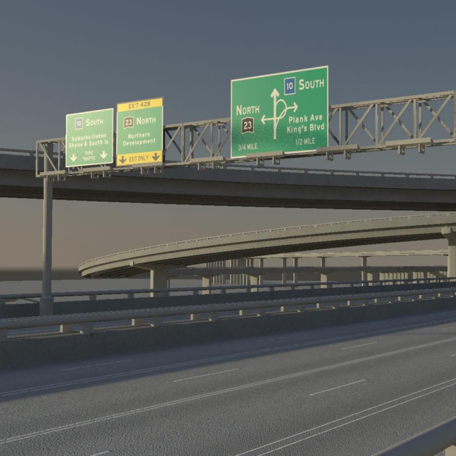 Freeway royalty-free 3d model - Preview no. 12