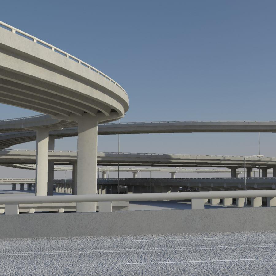 Freeway royalty-free 3d model - Preview no. 7