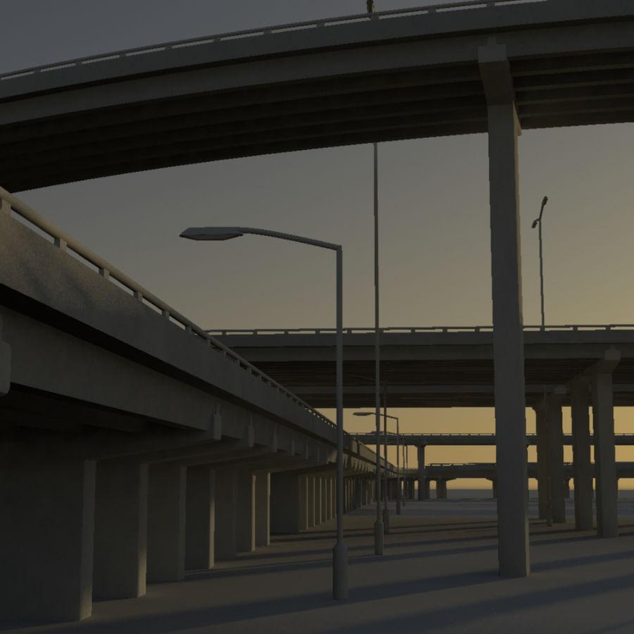 Freeway royalty-free 3d model - Preview no. 9