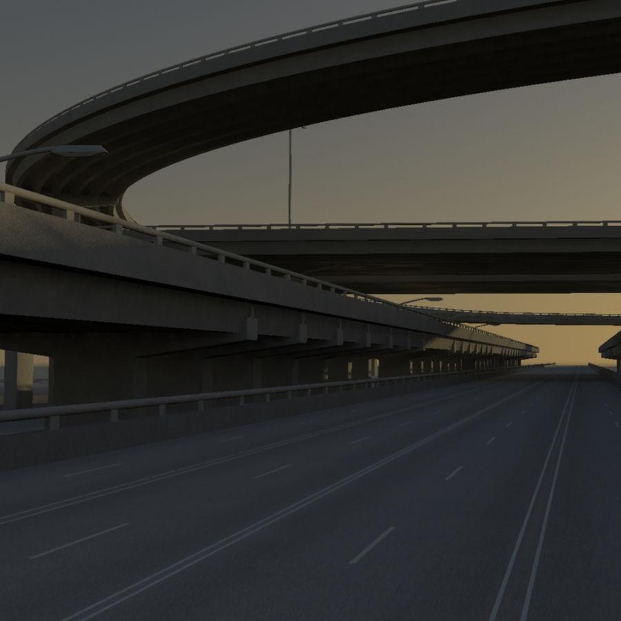 Freeway royalty-free 3d model - Preview no. 10