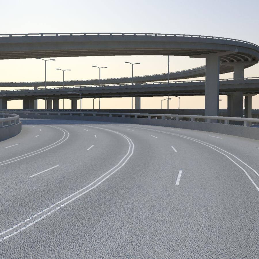 Freeway royalty-free 3d model - Preview no. 4