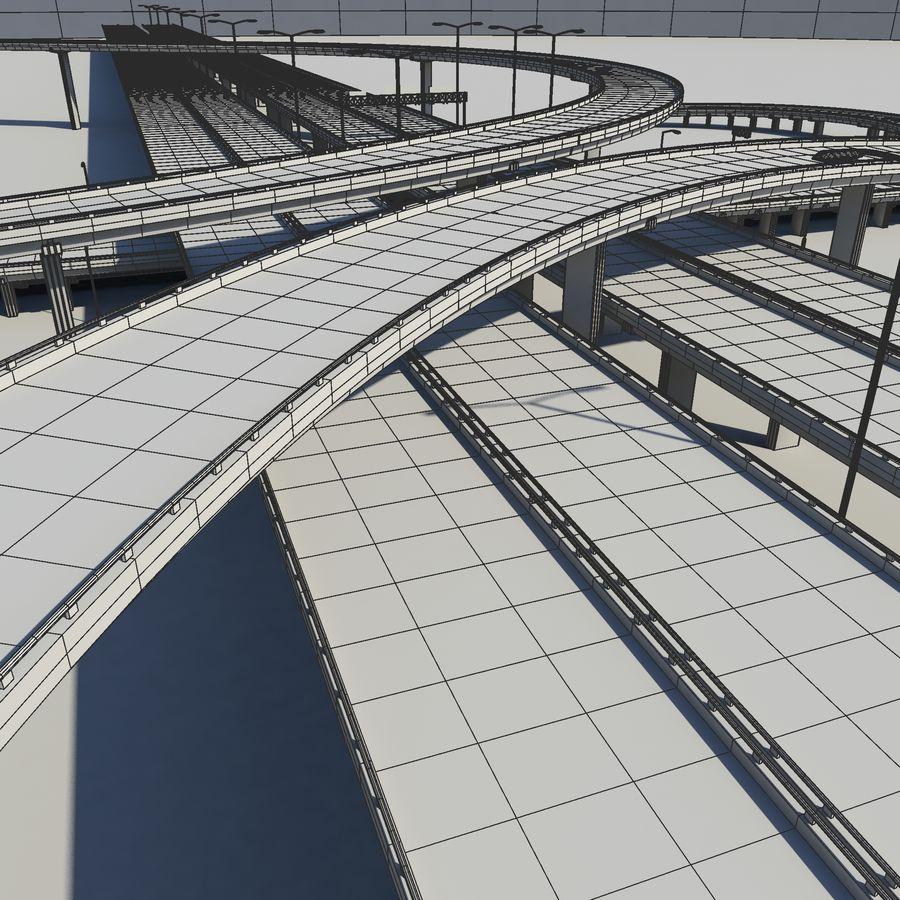 Freeway royalty-free 3d model - Preview no. 14