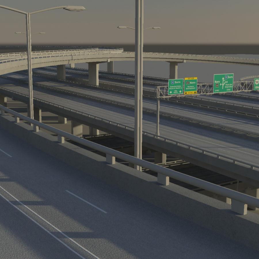 Freeway royalty-free 3d model - Preview no. 11