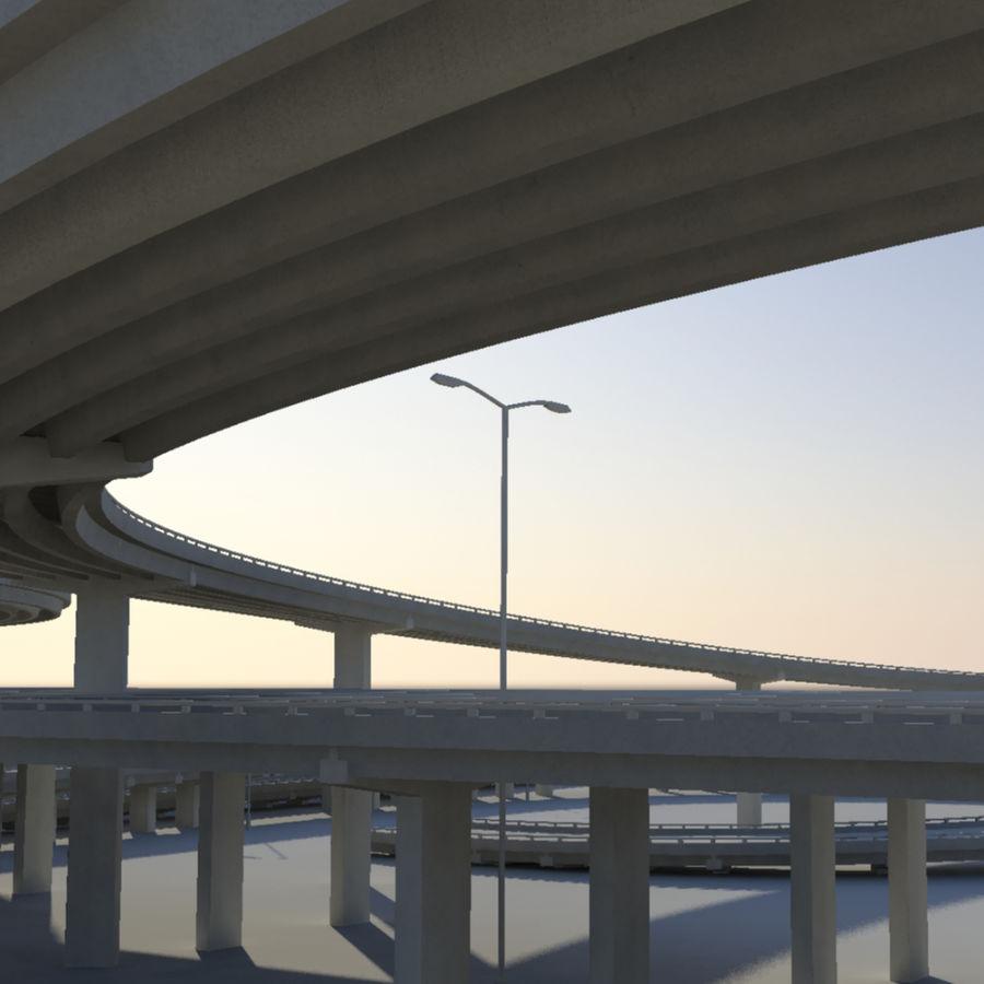 Freeway royalty-free 3d model - Preview no. 3