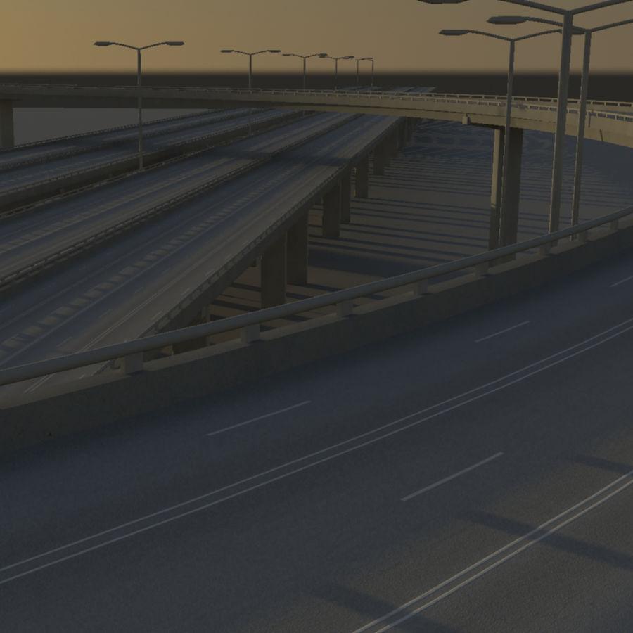 Freeway royalty-free 3d model - Preview no. 8