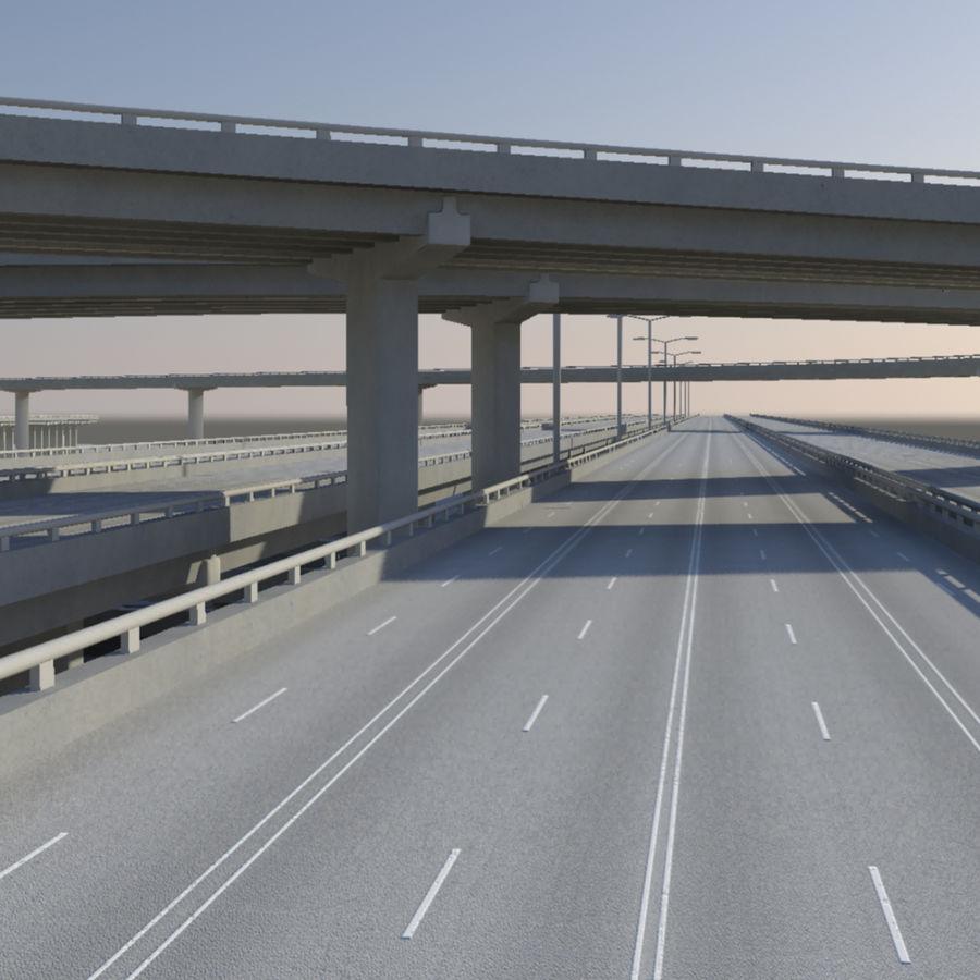 Freeway royalty-free 3d model - Preview no. 6