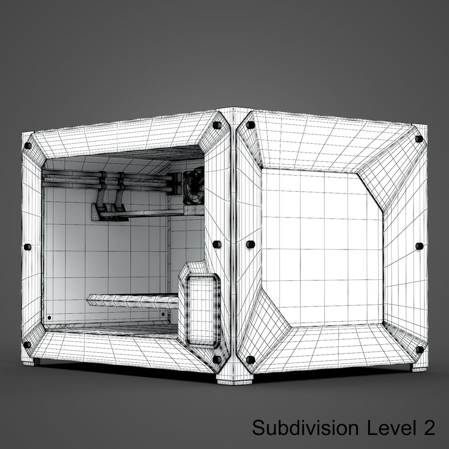 3 boyutlu yazıcı royalty-free 3d model - Preview no. 14