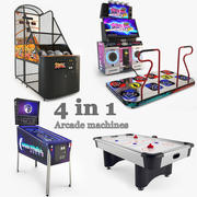 Arcade Machines Collection 3d model
