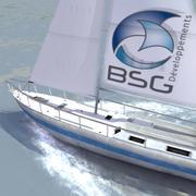 Racing Yacht C 3d model