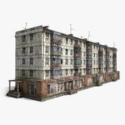 5-Storey Russian Panel House 3d model