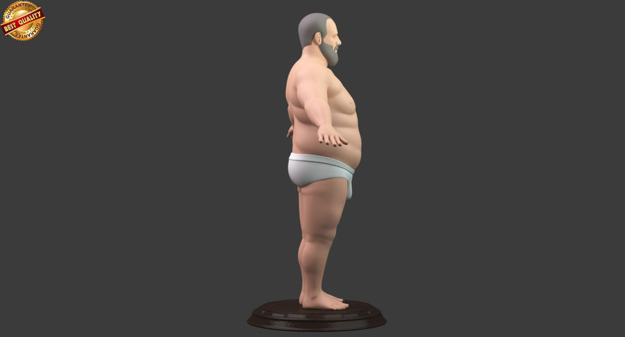 Hefty Aged Man royalty-free 3d model - Preview no. 3