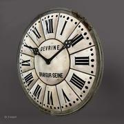 フランスの塔時計 3d model