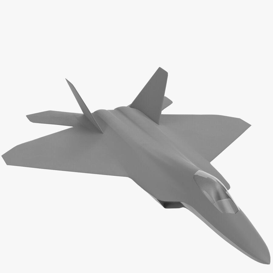 F-22 Raptor base mesh royalty-free 3d model - Preview no. 1