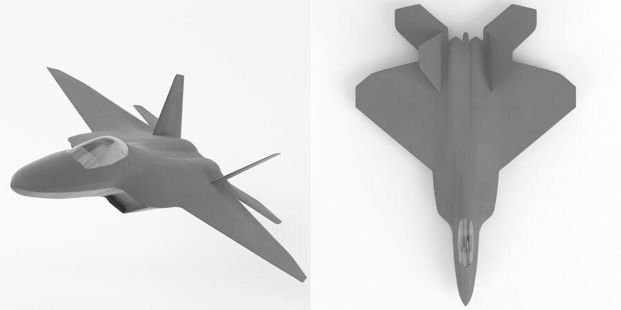 F-22 Raptor base mesh royalty-free 3d model - Preview no. 4