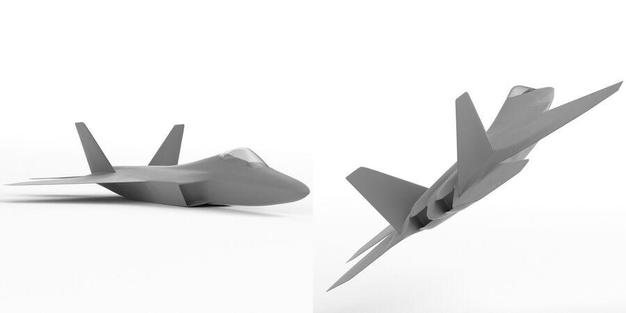 F-22 Raptor base mesh royalty-free 3d model - Preview no. 3