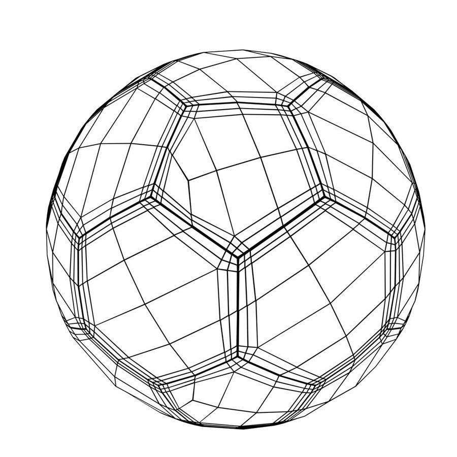 축구 축구 공 royalty-free 3d model - Preview no. 8