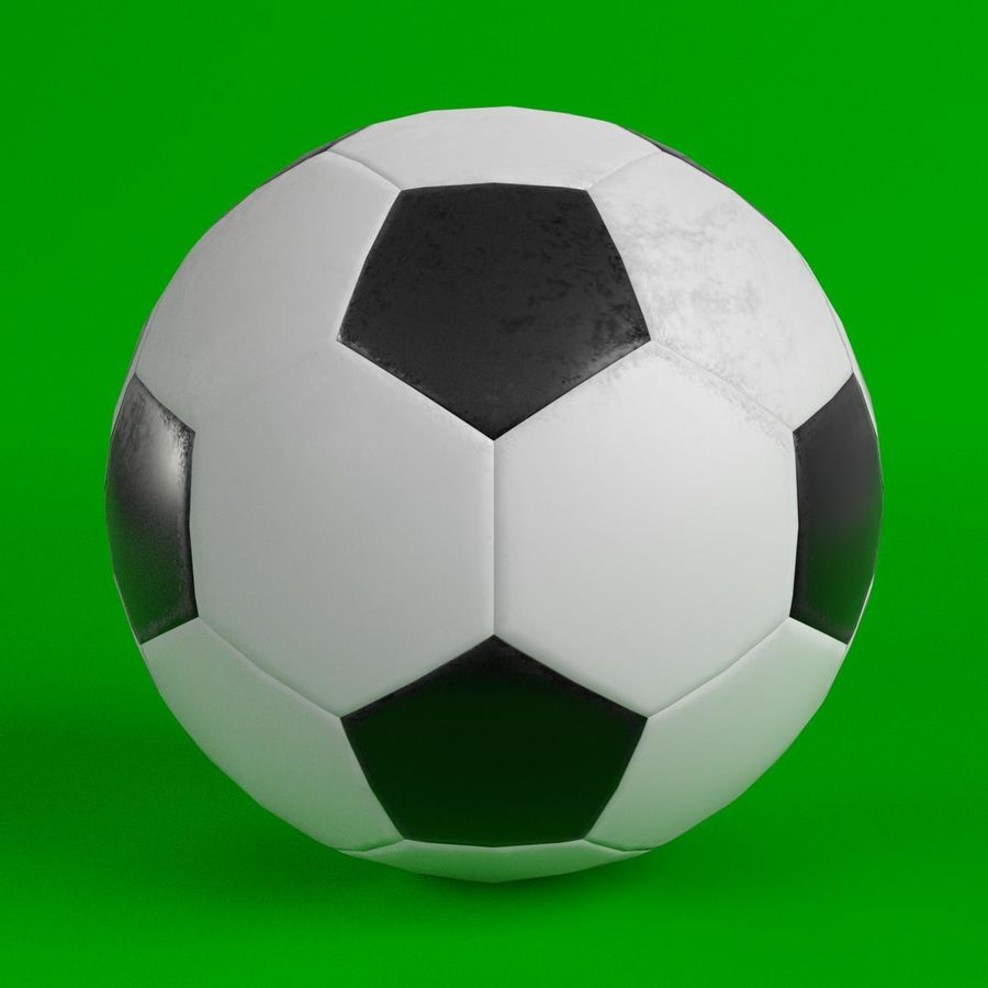 Piłka nożna Piłka nożna royalty-free 3d model - Preview no. 1