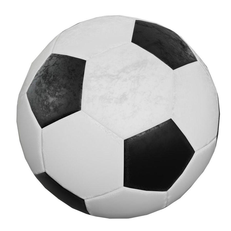 Piłka nożna Piłka nożna royalty-free 3d model - Preview no. 3