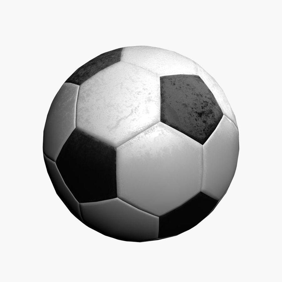 Piłka nożna Piłka nożna royalty-free 3d model - Preview no. 2