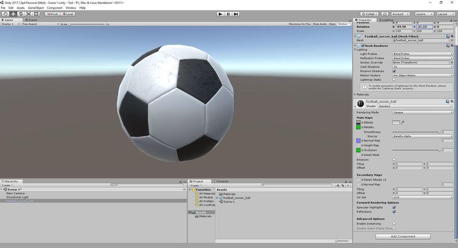 축구 축구 공 royalty-free 3d model - Preview no. 13
