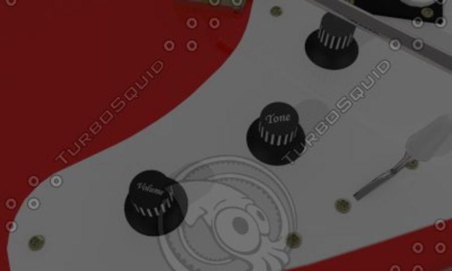 일렉트로 기타 royalty-free 3d model - Preview no. 5