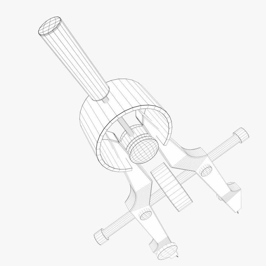 Pusula çizimi royalty-free 3d model - Preview no. 8