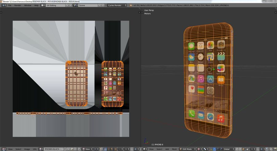 iPhone 6 royalty-free 3d model - Preview no. 10
