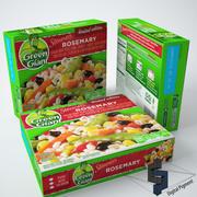 Zielone olbrzymie parowce z rozmarynem 3d model