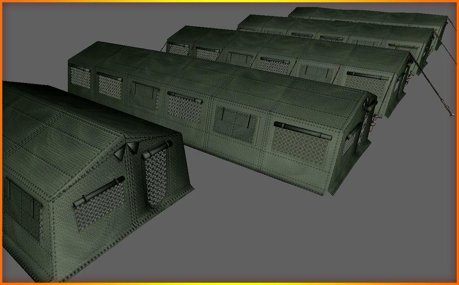 Tente de l'armée royalty-free 3d model - Preview no. 17