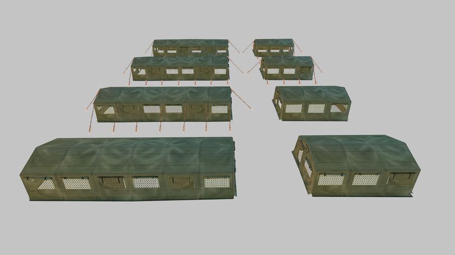 Tente de l'armée royalty-free 3d model - Preview no. 5