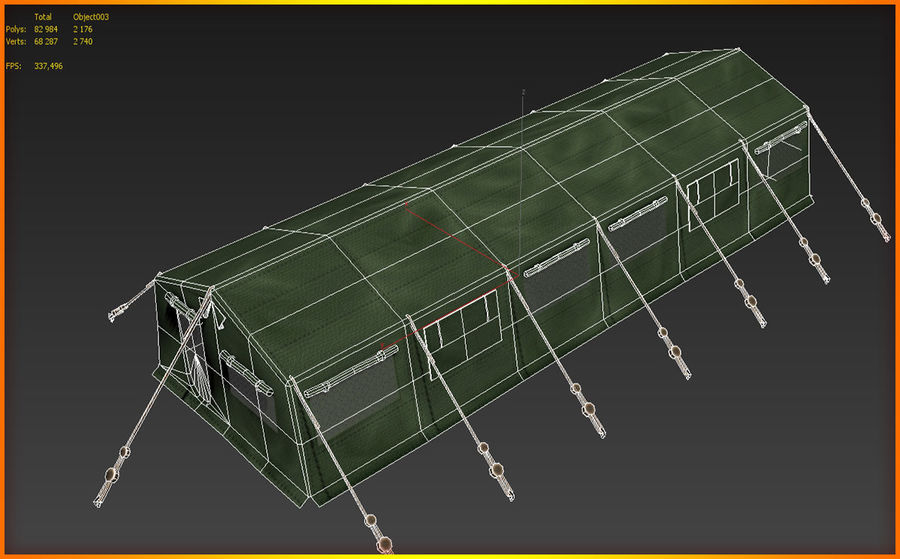 Tente de l'armée royalty-free 3d model - Preview no. 12
