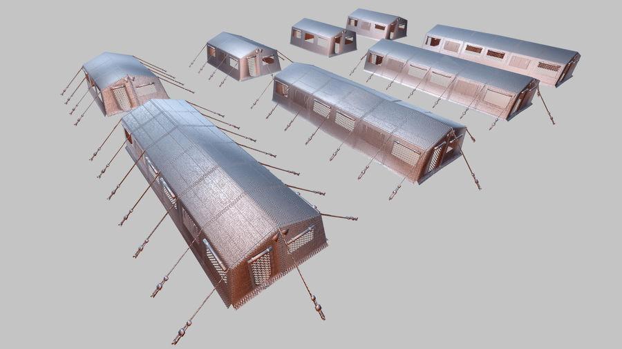 Tente de l'armée royalty-free 3d model - Preview no. 9