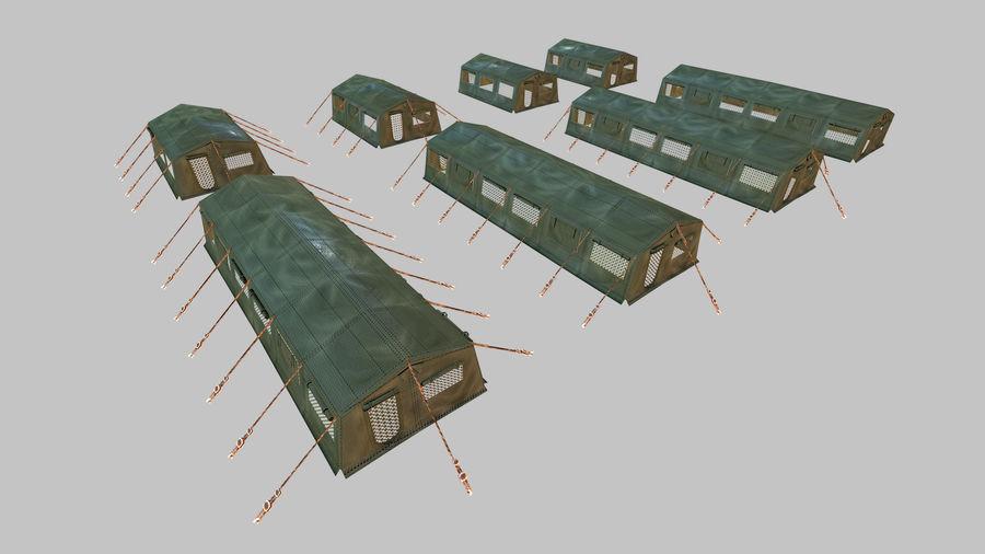 Tente de l'armée royalty-free 3d model - Preview no. 2