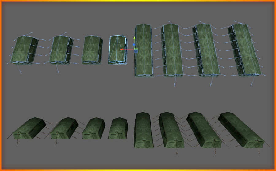 Tente de l'armée royalty-free 3d model - Preview no. 18
