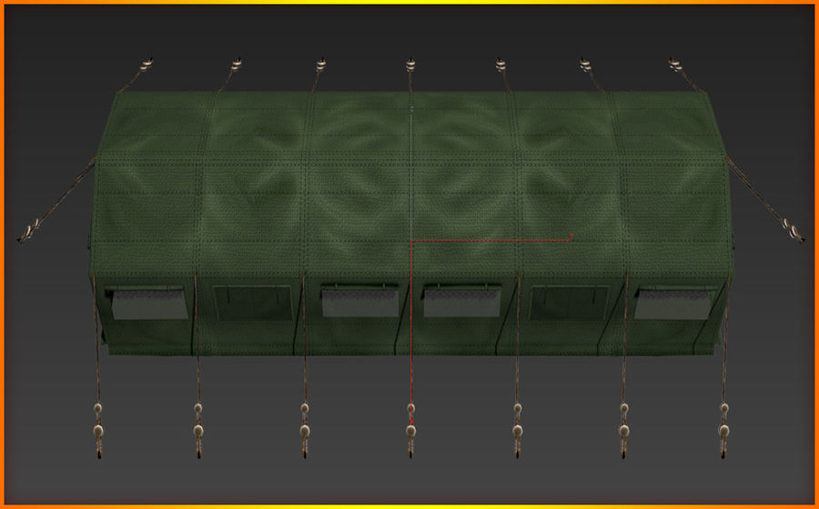 Tente de l'armée royalty-free 3d model - Preview no. 11