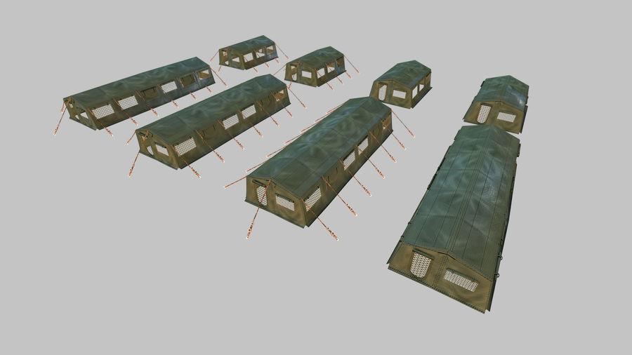 Tente de l'armée royalty-free 3d model - Preview no. 4