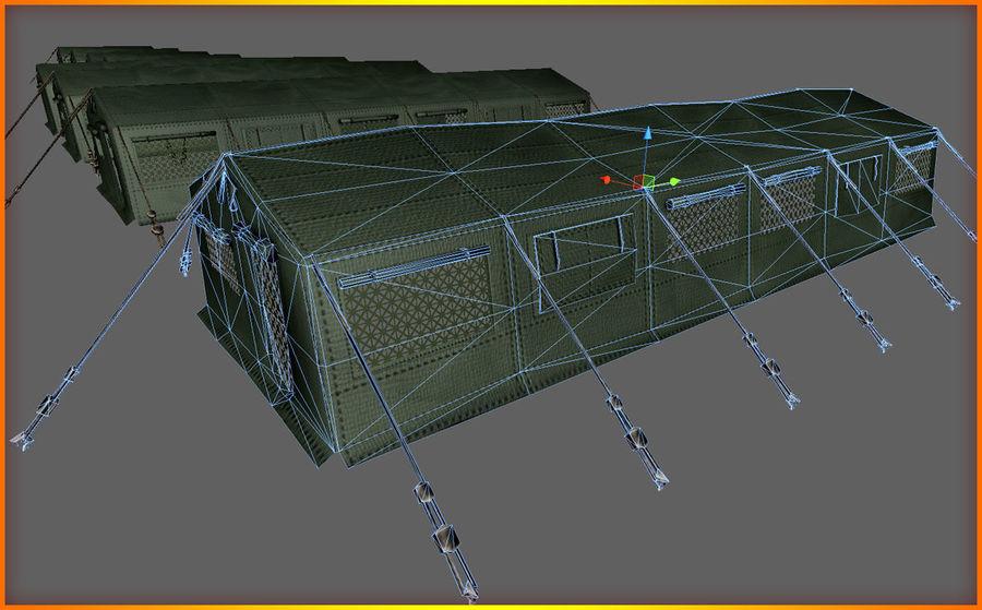 Tente de l'armée royalty-free 3d model - Preview no. 15
