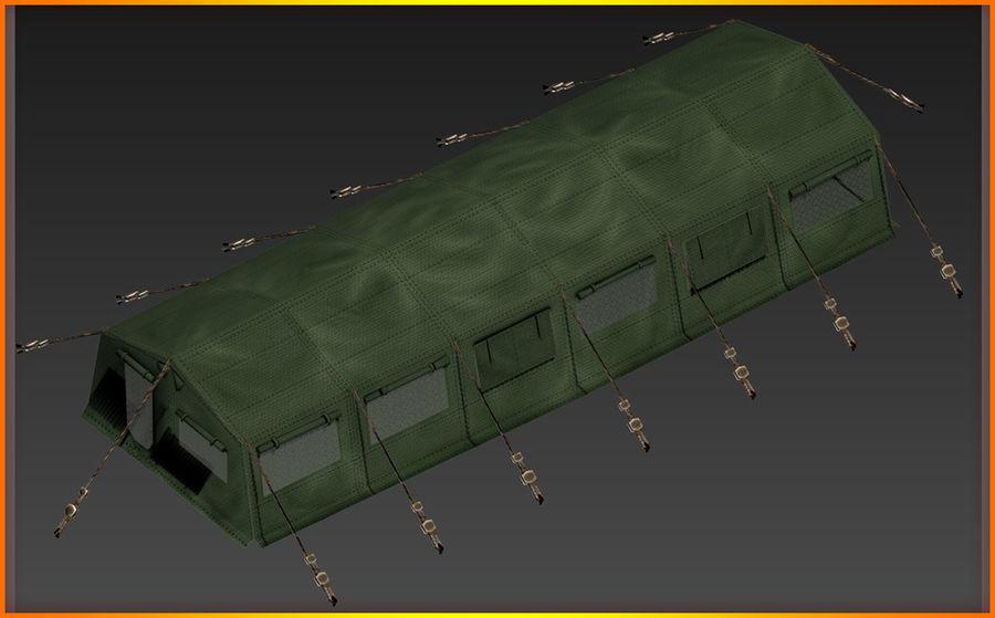 Tente de l'armée royalty-free 3d model - Preview no. 10