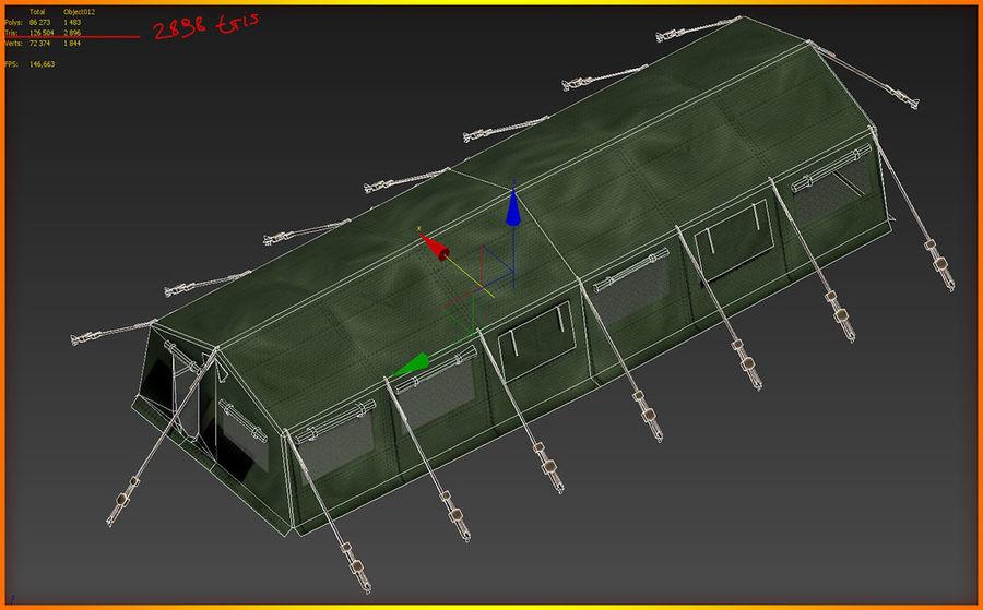Tente de l'armée royalty-free 3d model - Preview no. 14