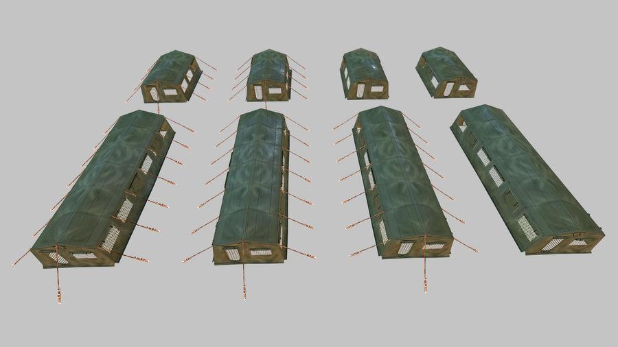 Tente de l'armée royalty-free 3d model - Preview no. 3
