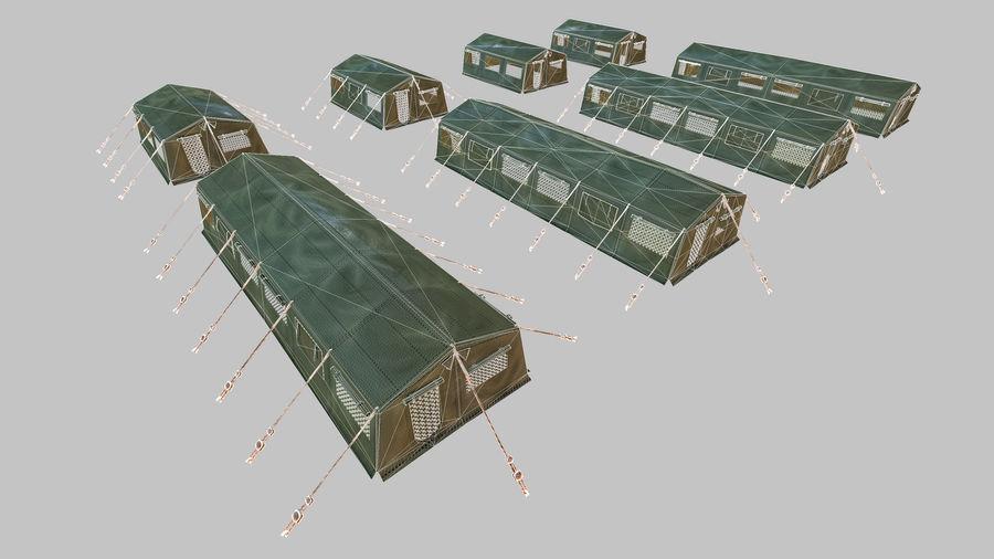 Tente de l'armée royalty-free 3d model - Preview no. 8
