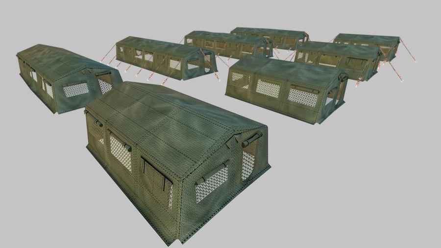 Tente de l'armée royalty-free 3d model - Preview no. 6