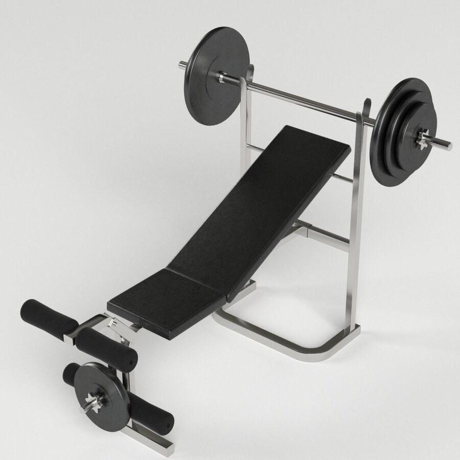 Peso del banco del equipo del gimnasio royalty-free modelo 3d - Preview no. 2