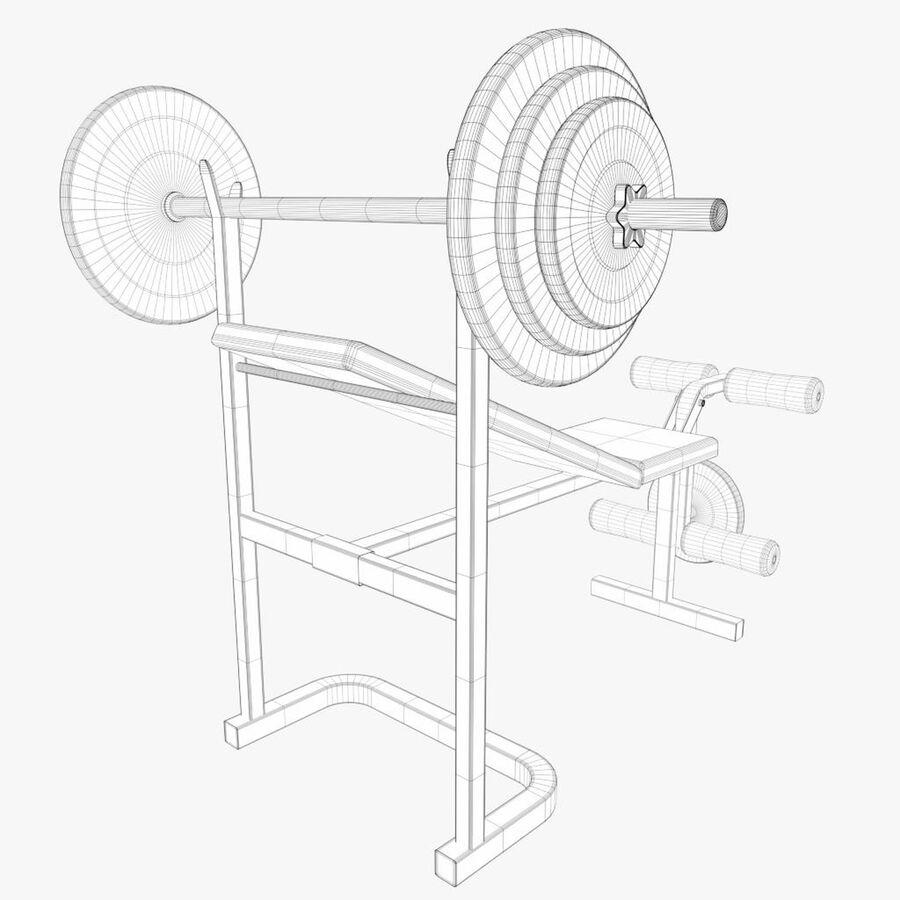 Peso del banco del equipo del gimnasio royalty-free modelo 3d - Preview no. 8