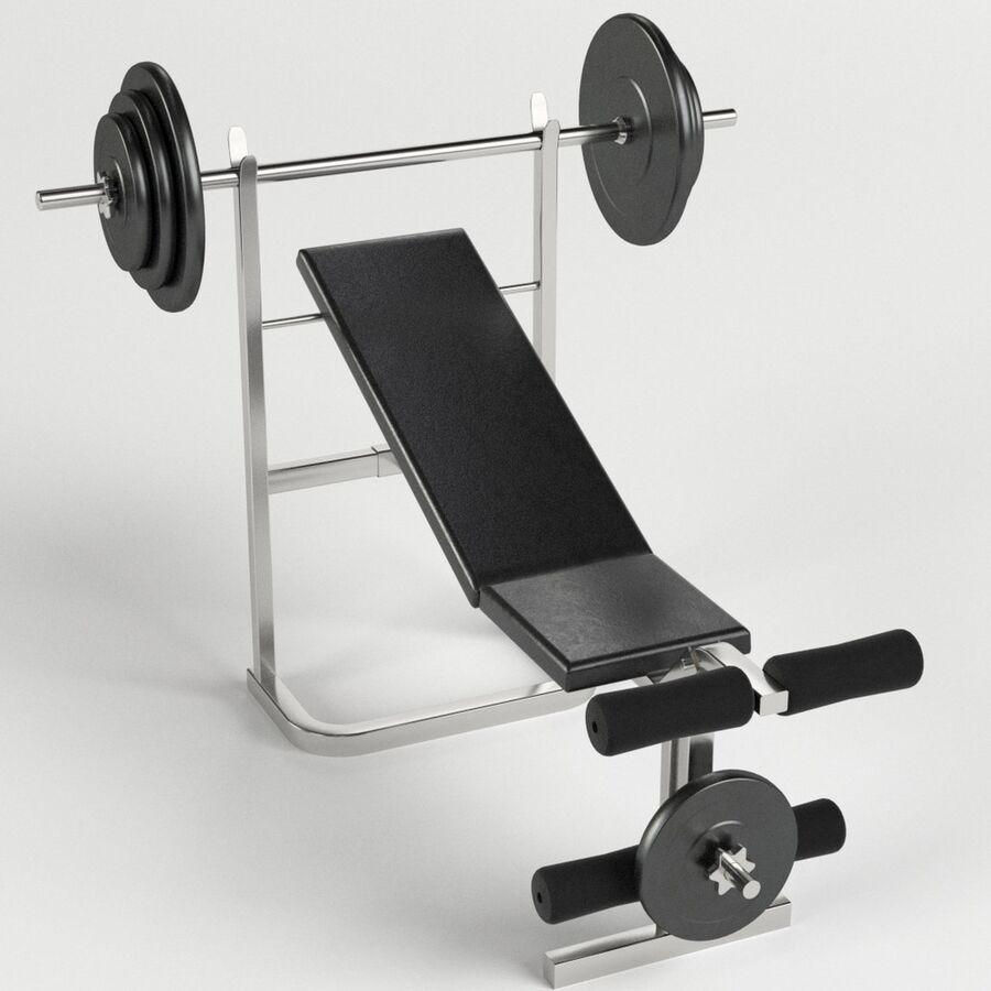Peso del banco del equipo del gimnasio royalty-free modelo 3d - Preview no. 1