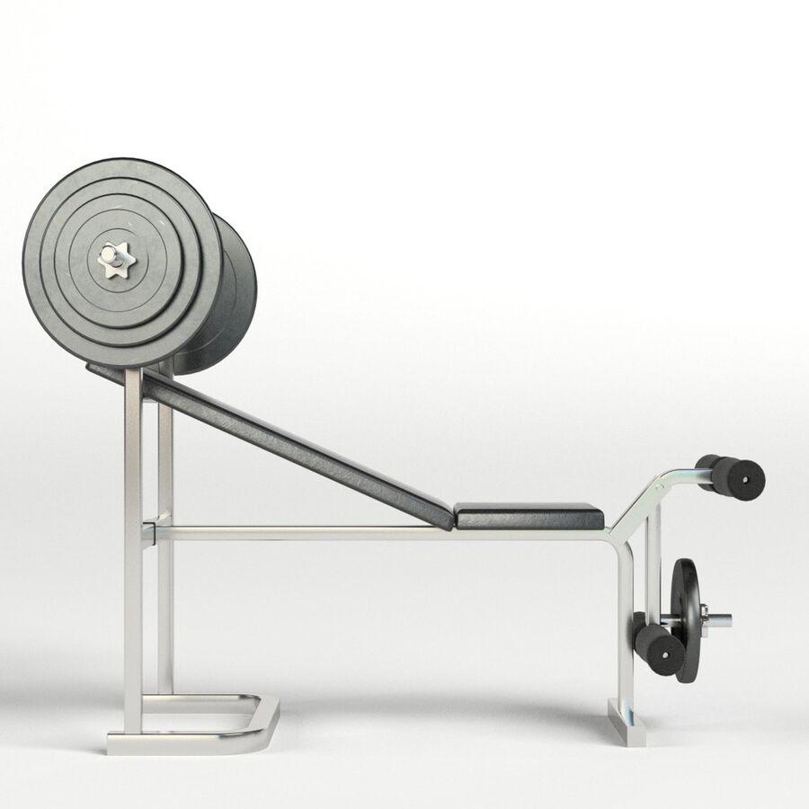 Peso del banco del equipo del gimnasio royalty-free modelo 3d - Preview no. 4