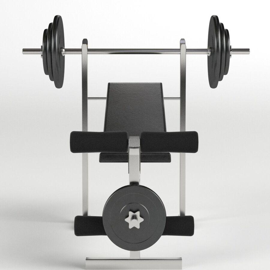 Peso del banco del equipo del gimnasio royalty-free modelo 3d - Preview no. 3