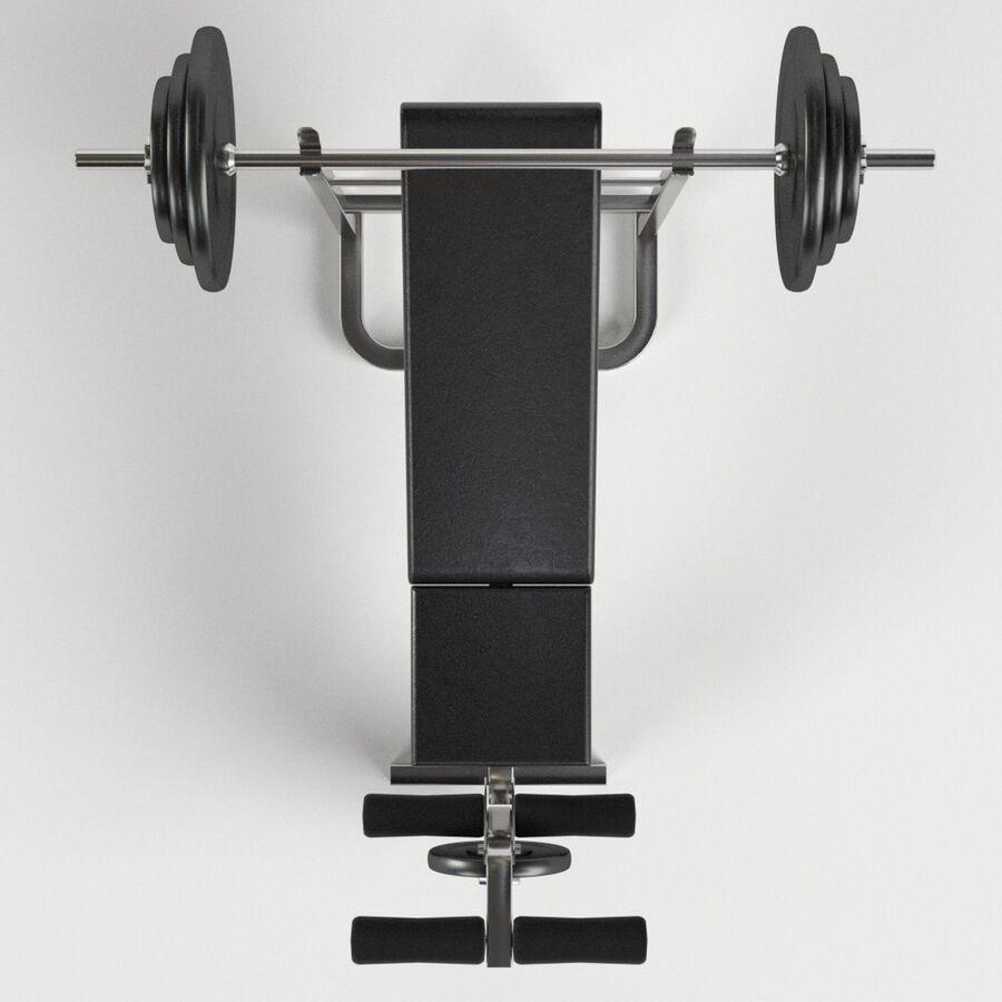 Peso del banco del equipo del gimnasio royalty-free modelo 3d - Preview no. 6