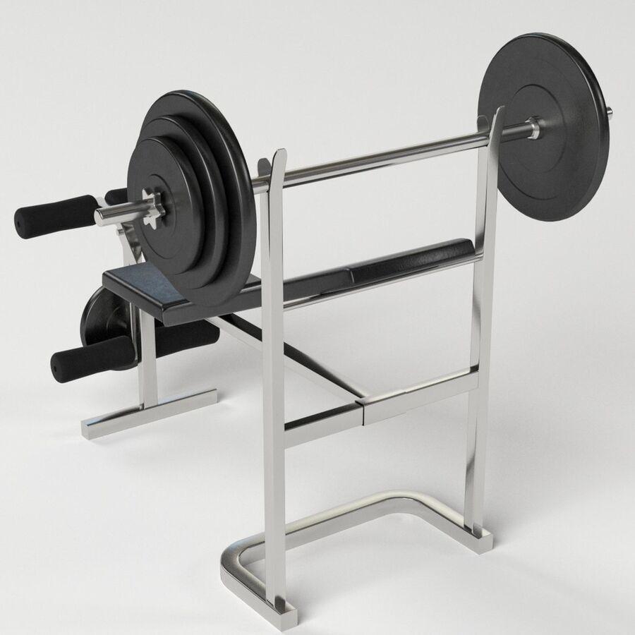 Peso del banco del equipo del gimnasio royalty-free modelo 3d - Preview no. 5