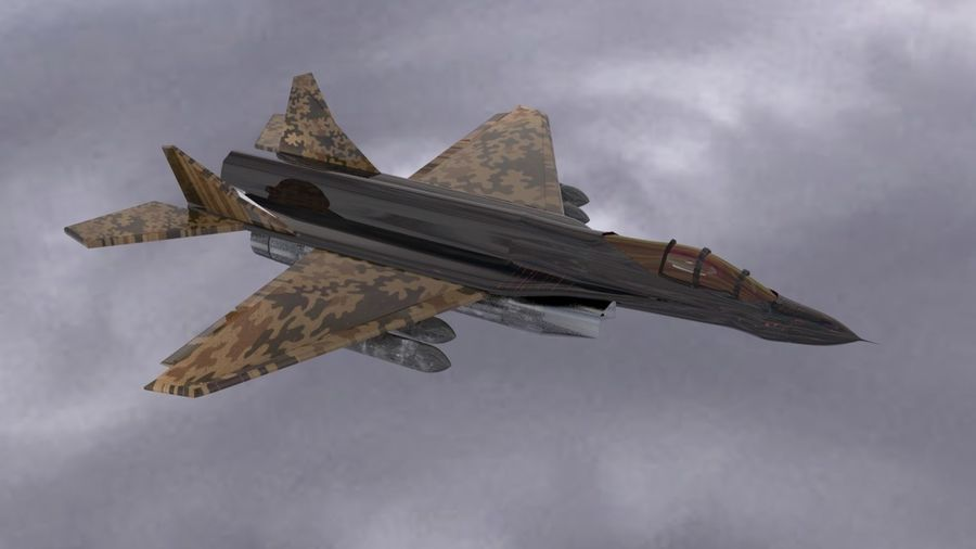 Mig-35 royalty-free 3d model - Preview no. 1